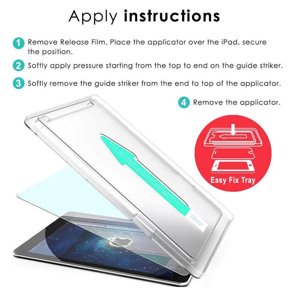 Kapaver 2.5D Tempered Glass for iPad 10.5  (Pack of 1 Glasses with 1 Easy Applicator)