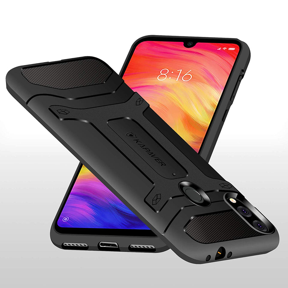 Kapaver Rugged Case for Xiaomi Redmi Note 7 Pro