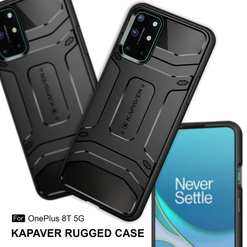 kapaver rugged back cover case for oneplus 8t 5g