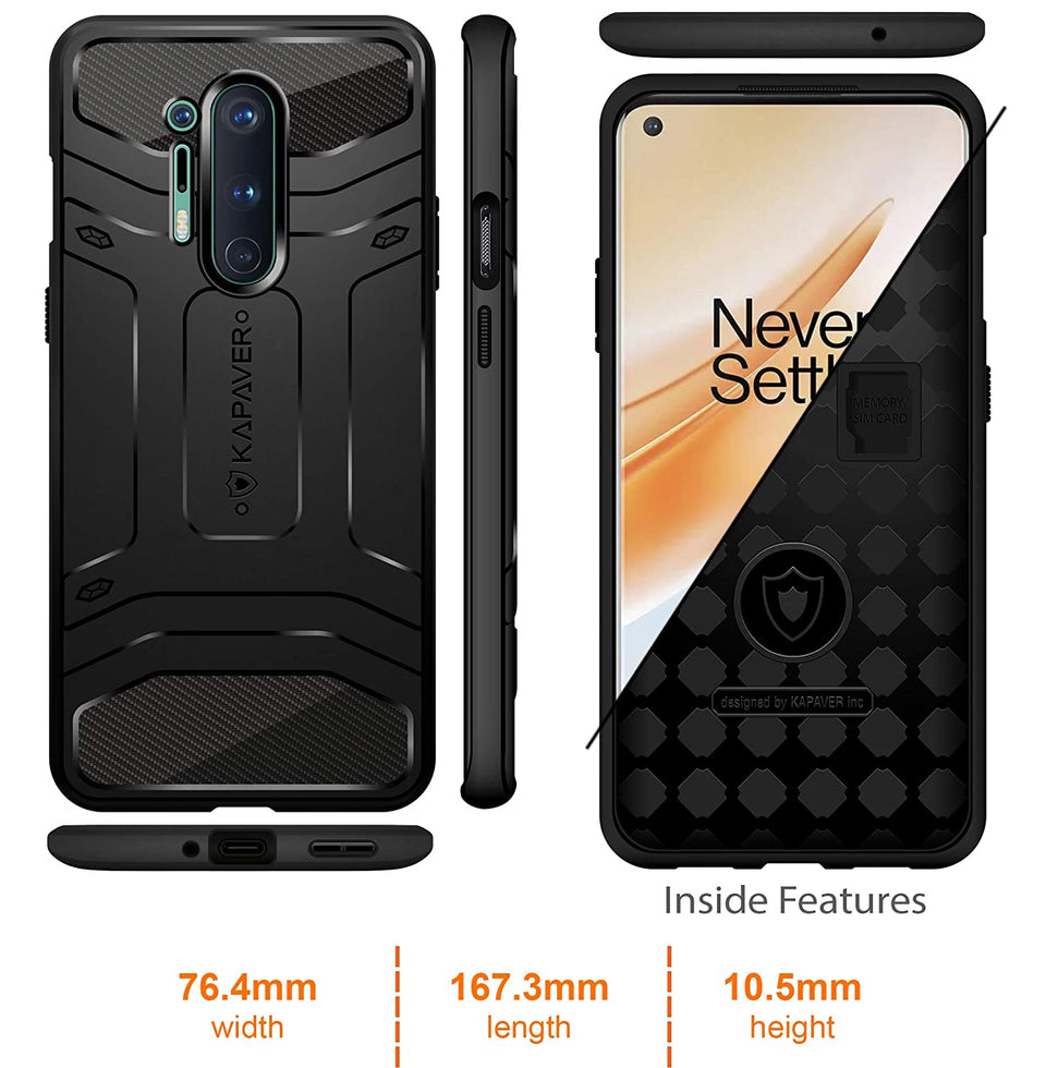 KAPAVER Rugged Case For OnePlus 8 Pro