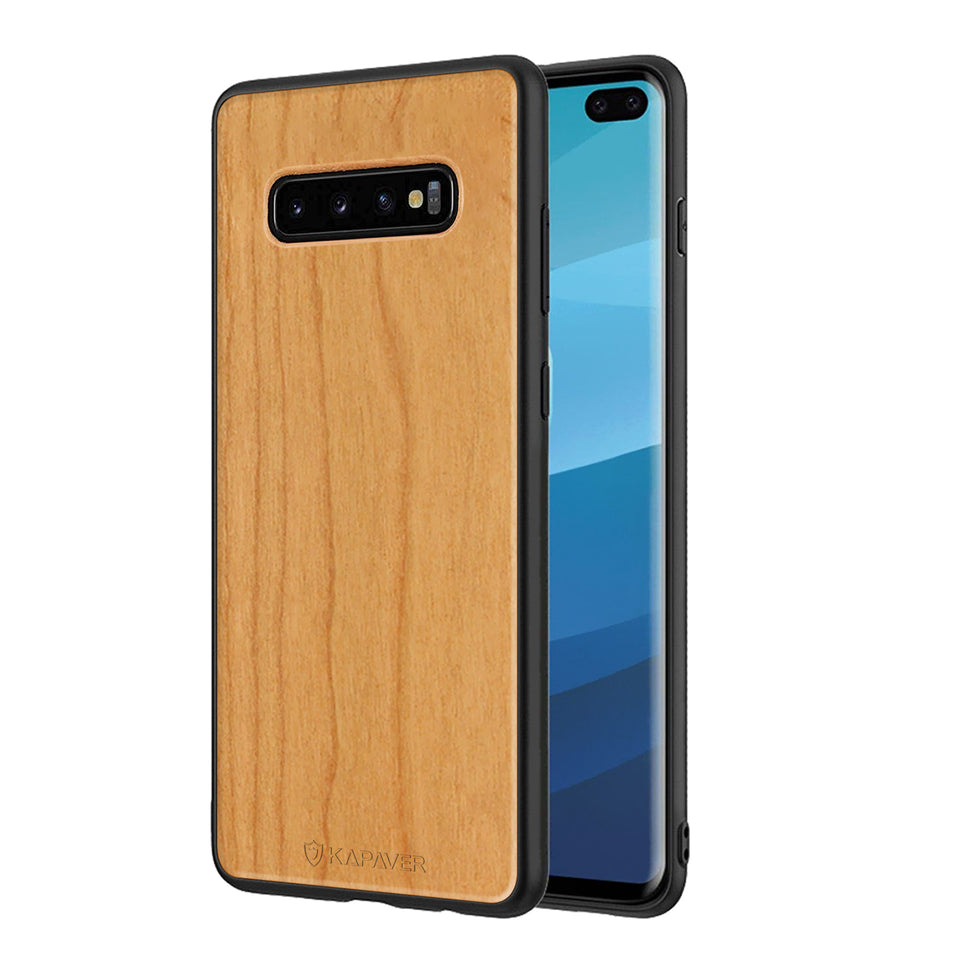 Kapaver Real Wood Phone Case for Samsung Galaxy S10 Plus