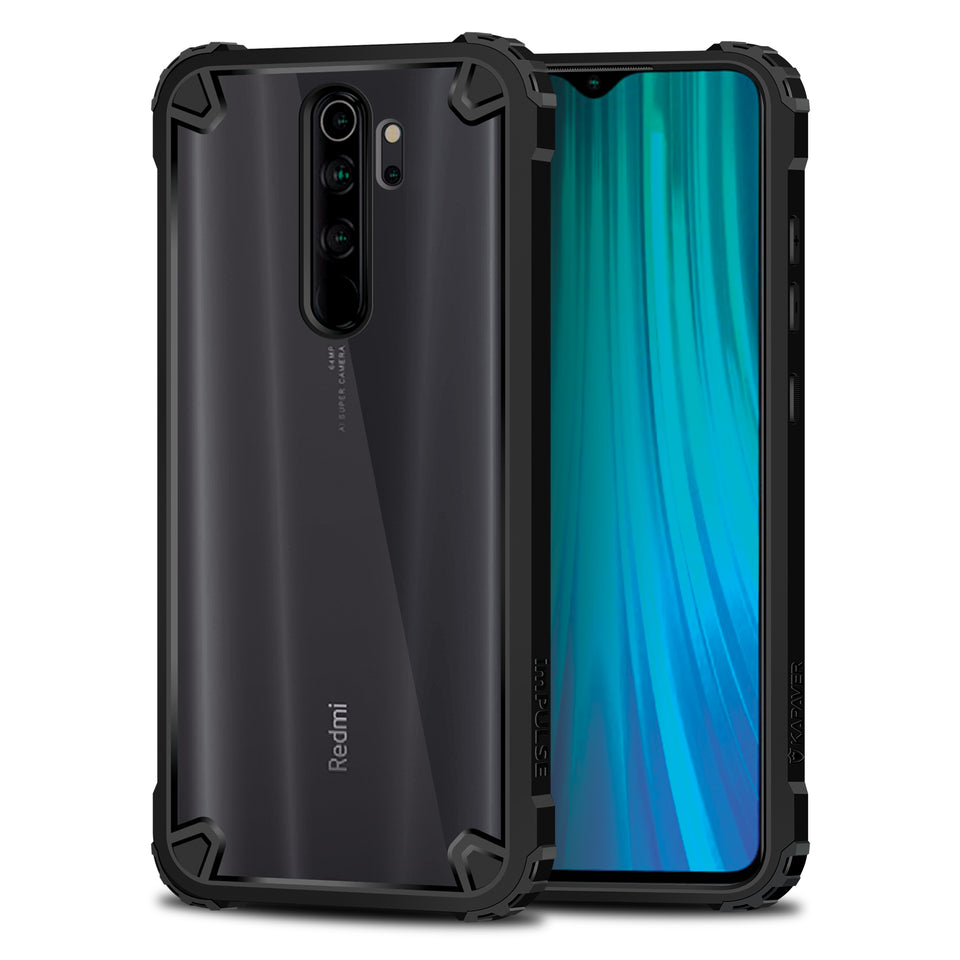 Kapaver Hybrid Bumper Case for Redmi Note 8 Pro