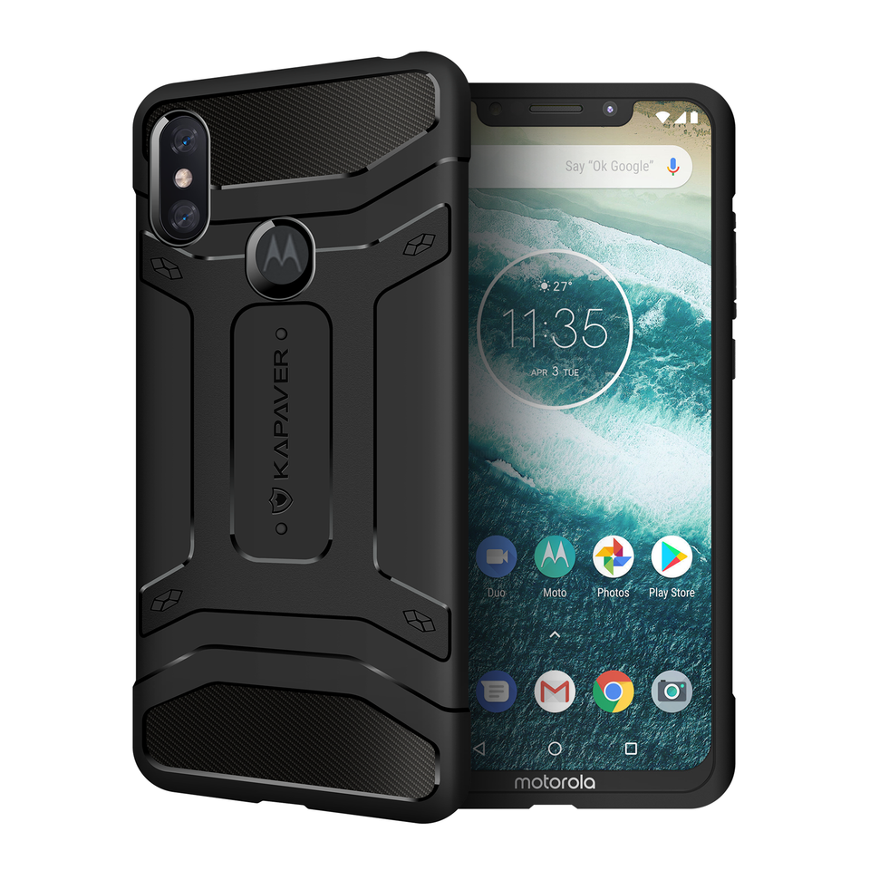Kapaver Rugged Case for Moto OnePower P30 Note