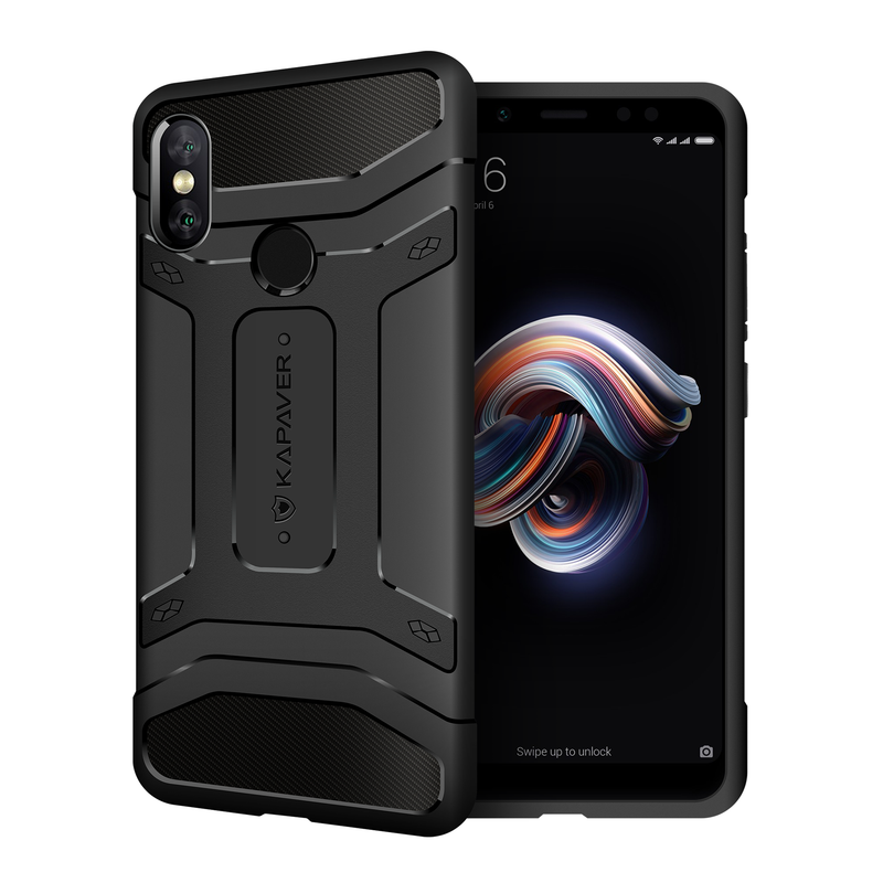 Kapaver Rugged Case for Xiaomi Redmi Note 5 Pro