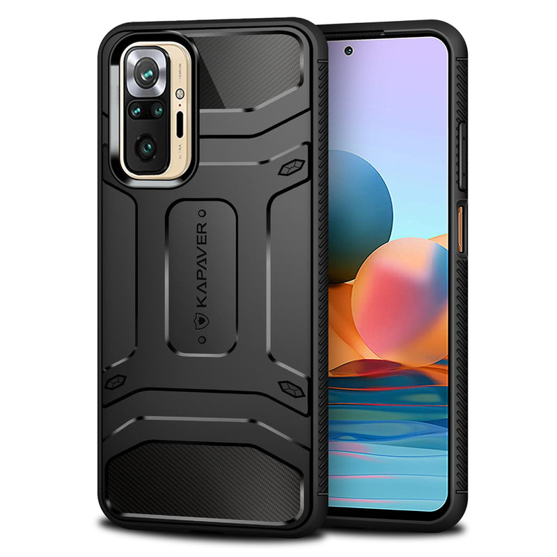 KAPAVER Rugged Case for Xiaomi Redmi Note 10 Pro