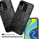 Kapaver Rugged Case for Xiaomi Redmi Note 9 Pro