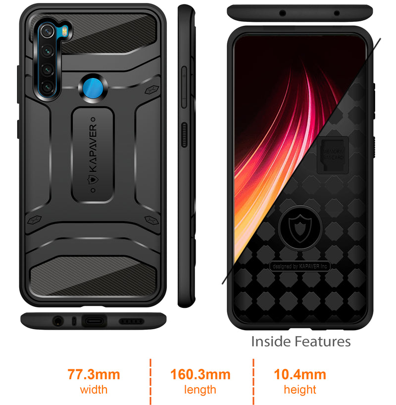 Kapaver Rugged Case for Xiaomi Redmi Note 8
