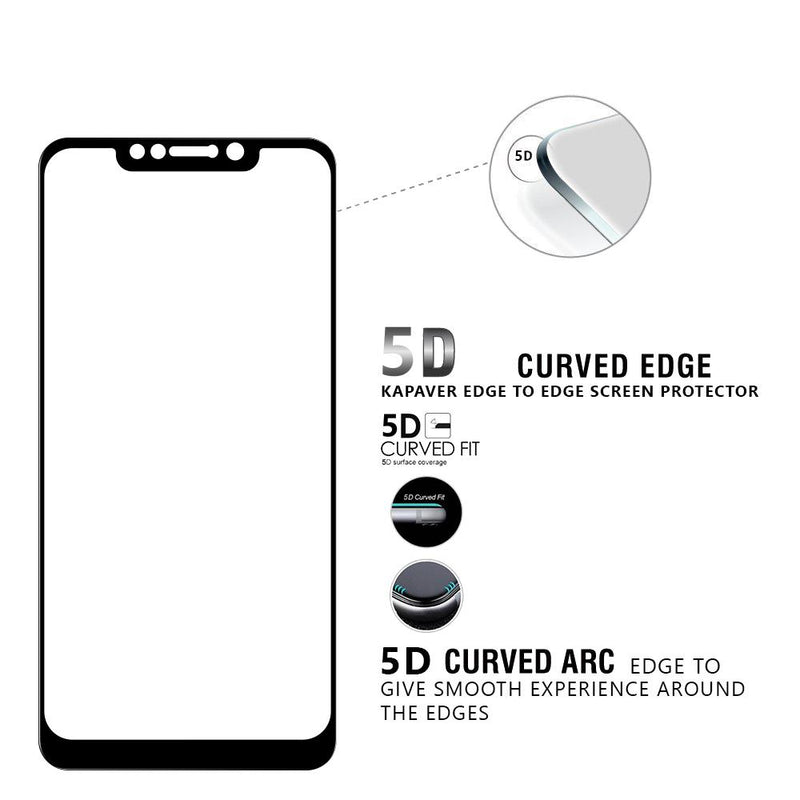 Kapaver 3D Tempered Glass for Xiaomi Poco F1