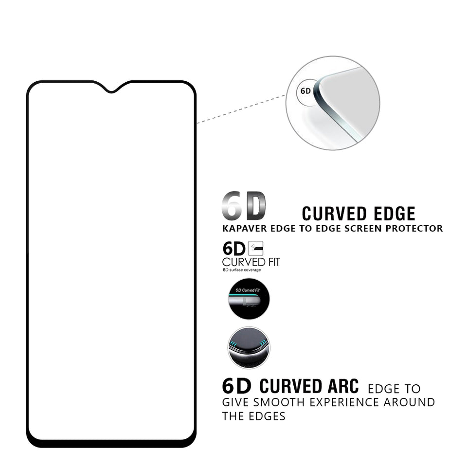 Kapaver 3D Tempered Glass for OnePlus 6T