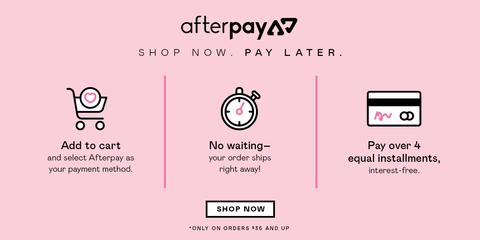 SELF CARE NOW. PAY LATER WITH AFTERPAY.