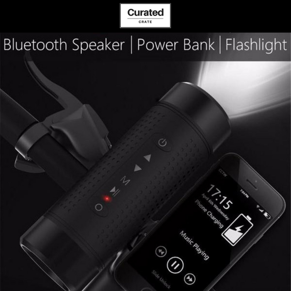 5-in-1 Bluetooth Speaker | Powerbank | Flashlight by Curated Crate