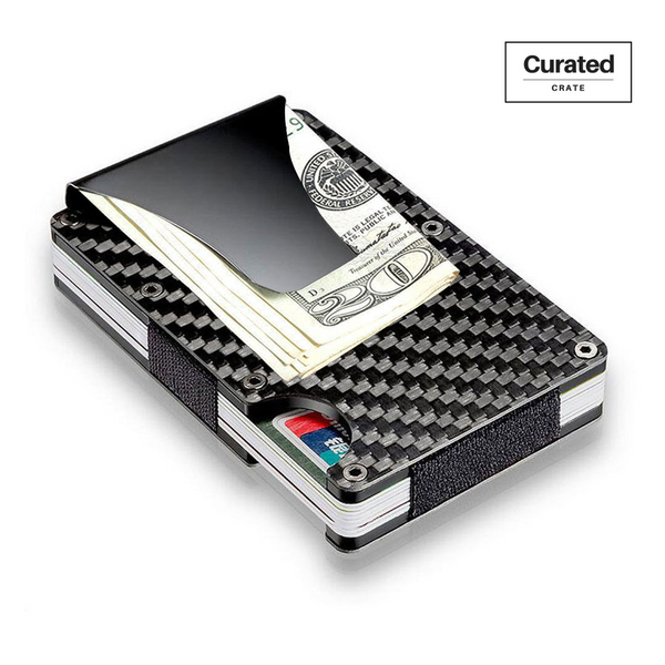 Slim Carbon Fiber RFID Wallet by Curated Crate