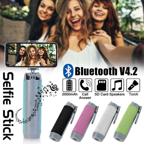 Ultimate 5-in-1 Selfie-Stick | Speaker | Flashlight | Powerbank