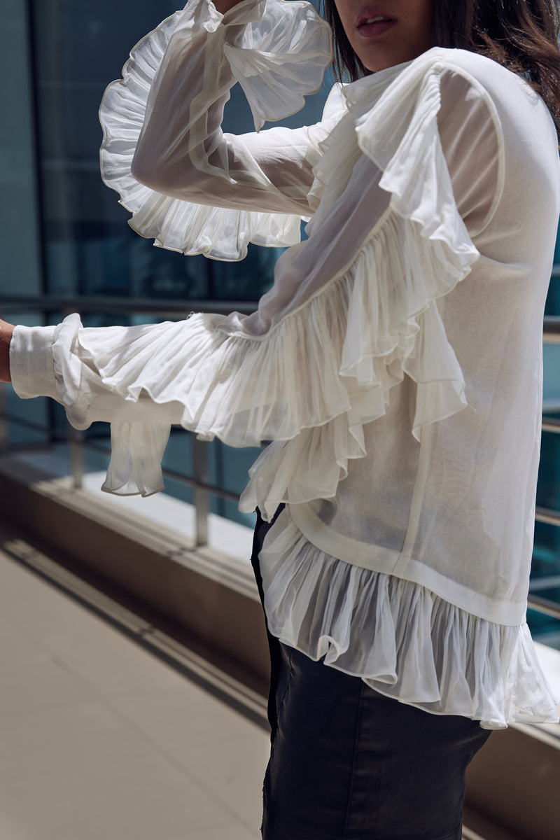 All Over Frill Top