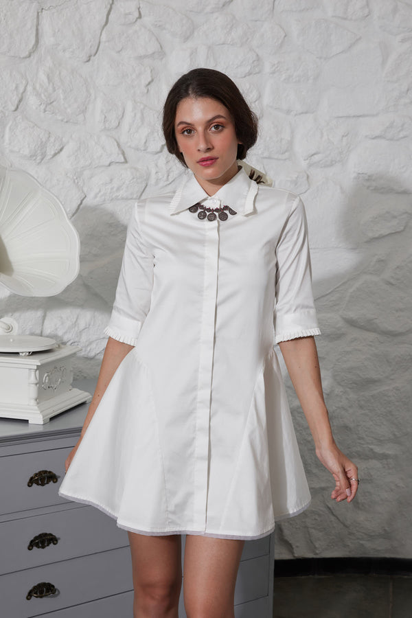 DOVE SHIRT DRESS
