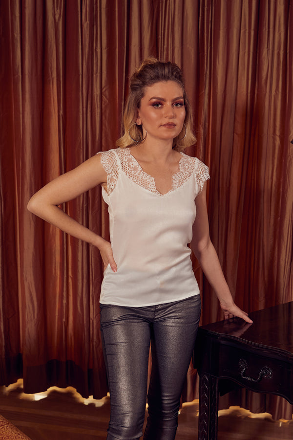 Chantilly Lace Silk Top