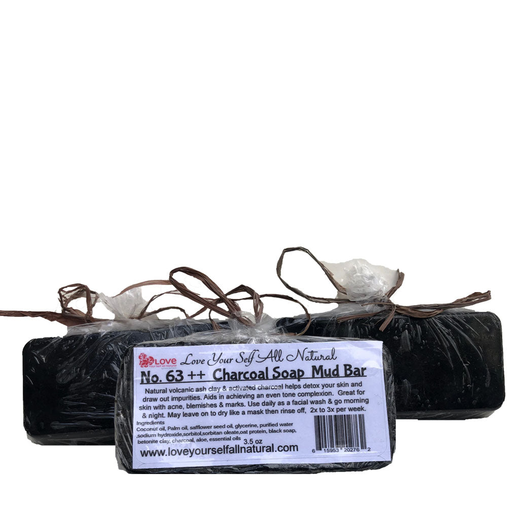 No.63++ CHARCOAL SOAP MUD BARS