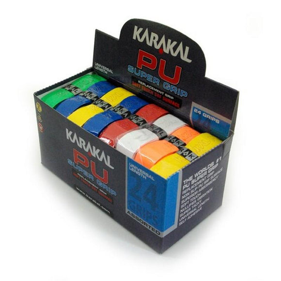 Karakal PU Super Grip - Solid - Assorted - Box of 24