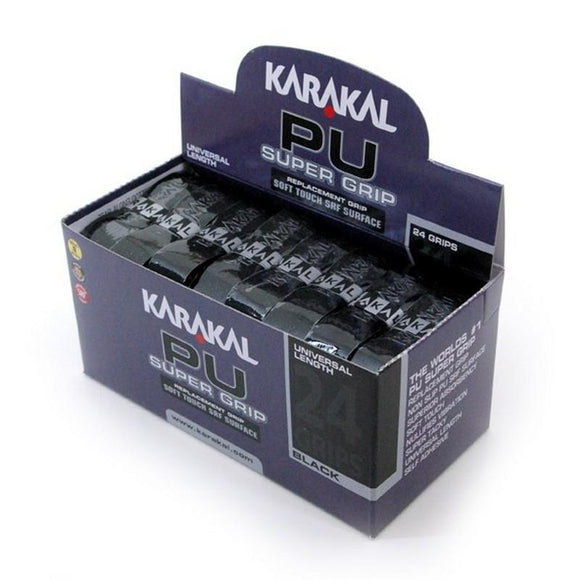 Karakal PU Super Grip - Solid - Black - Box of 24