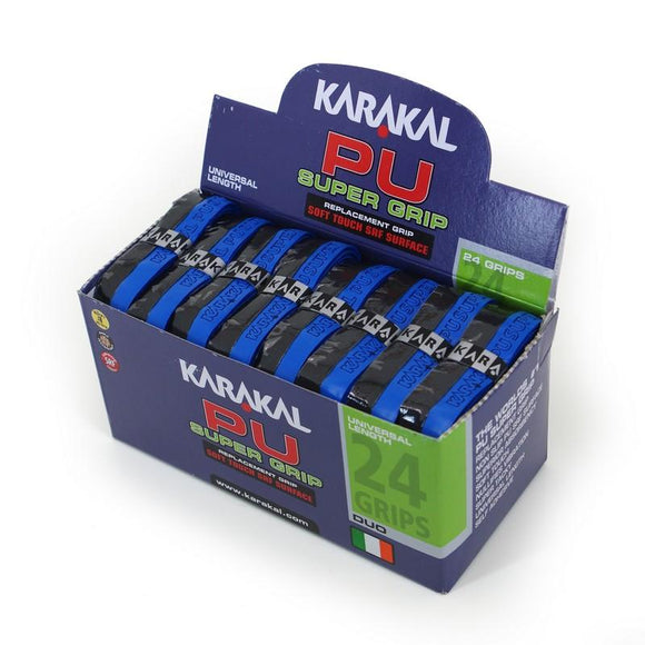 Karakal PU Super Grip - Duo - Black/Blue - Box of 24
