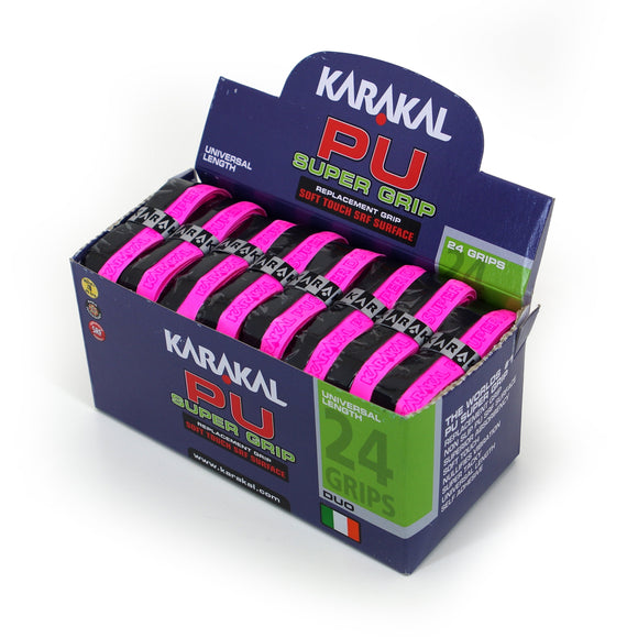 Karakal PU Super Grip - Duo - Pink/Black - Box of 24