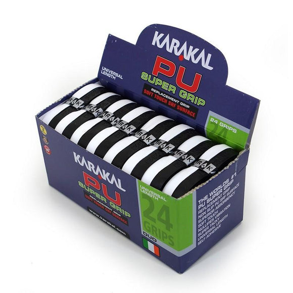 Karakal PU Super Grip - Duo - Black/White - Box of 24