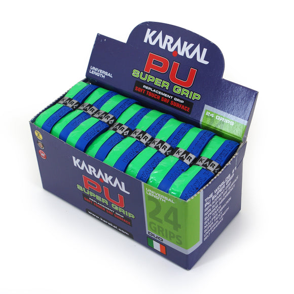 Karakal PU Super Grip - Duo - Blue/Green - Box of 24