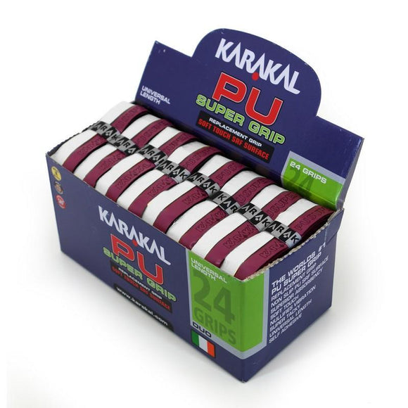 Karakal PU Super Grip - Duo - Maroon/White - Box of 24