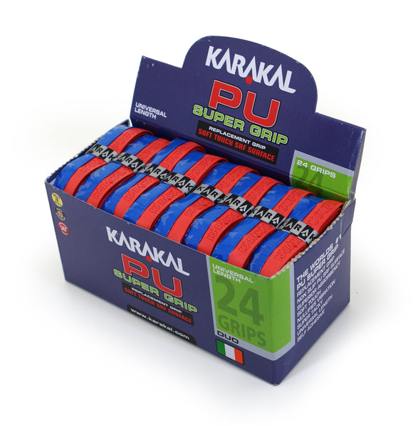 Karakal PU Super Grip - Duo - Blue/Red - Box of 24