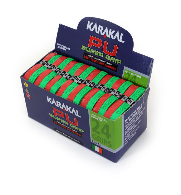 Karakal PU Super Grip - Duo - Green/Red - Box of 24