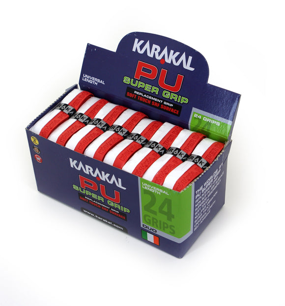 Karakal PU Super Grip - Duo - Red/White - Box of 24