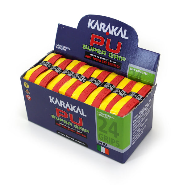 Karakal PU Super Grip - Duo - Red/Yellow - Box of 24