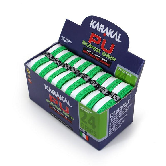 Karakal PU Super Grip - Duo - Green/White - Box of 24