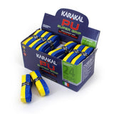 Karakal PU Super Grip - Duo - Blue/Yellow - Box of 24