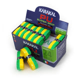 Karakal PU Super Grip - Duo - Green/Yellow - Box of 24