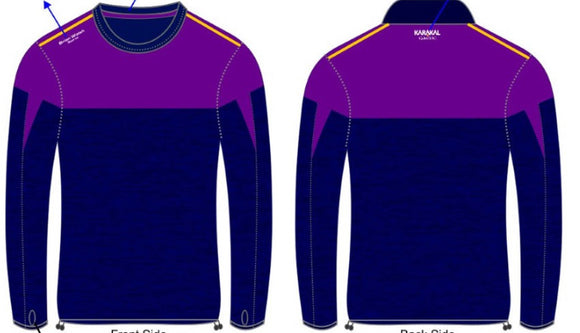 Long sleeve training top -purple