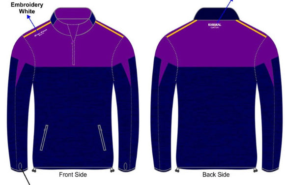 Brian Walsh Sports Half Zip -purple