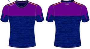Short sleeve training top -purple