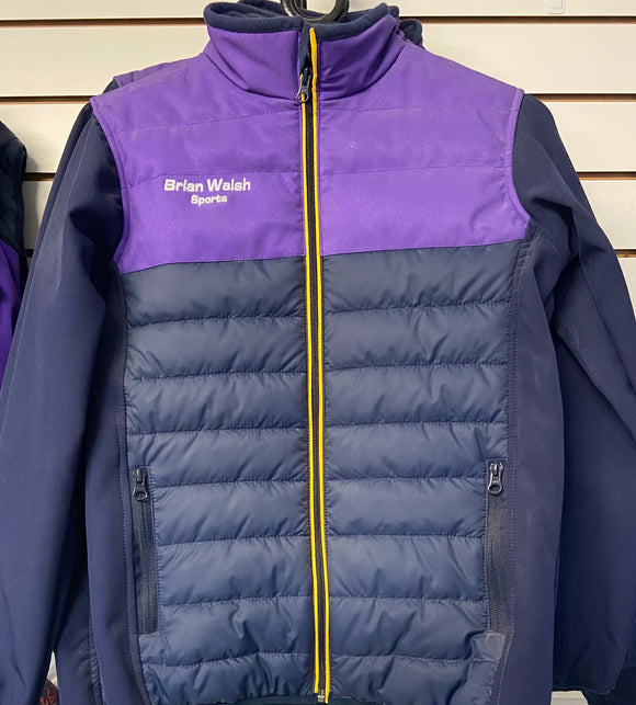 Coach jacket -Navy/Purple