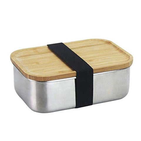 Northspur Bamboo Stainless Bento Lunch Box Container for Hemp Edibles & Food Storage