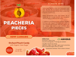 Peacheria Pieces | Hemp Orchard Peach Candy with Organic Ingredients