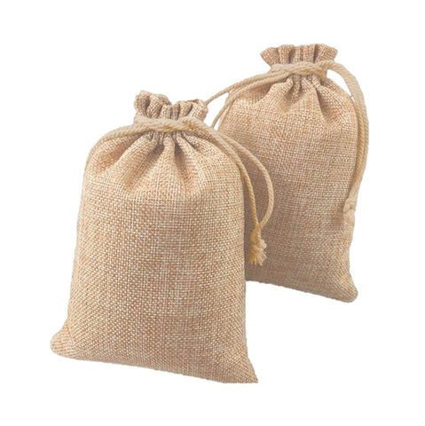 Burlap Privacy Stash Bags for Hemp Edibles