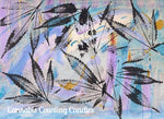 Jurassic Blueberries' Cannabis-Inspired Expressionist Watercolor Paintings