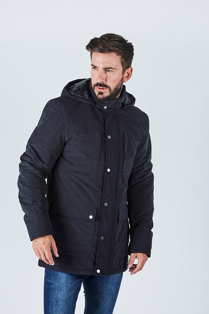 williams-mens-longline-black-bomber-jacket