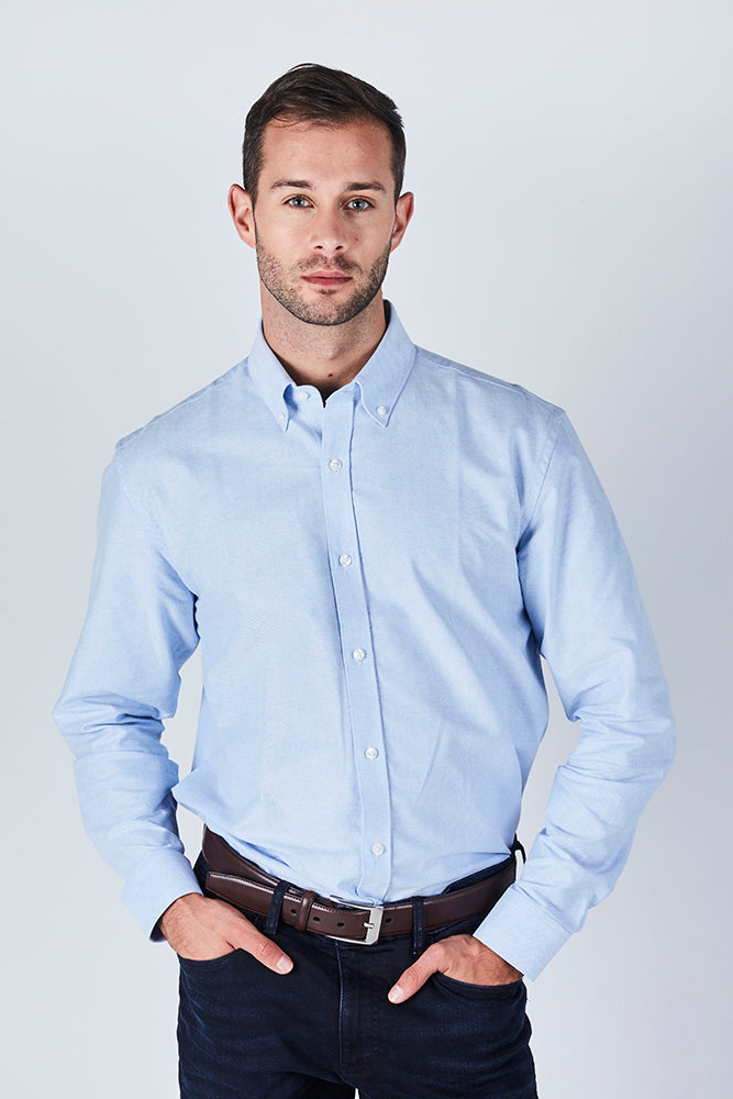 blue-oxford-collar-long-sleeve-shirt