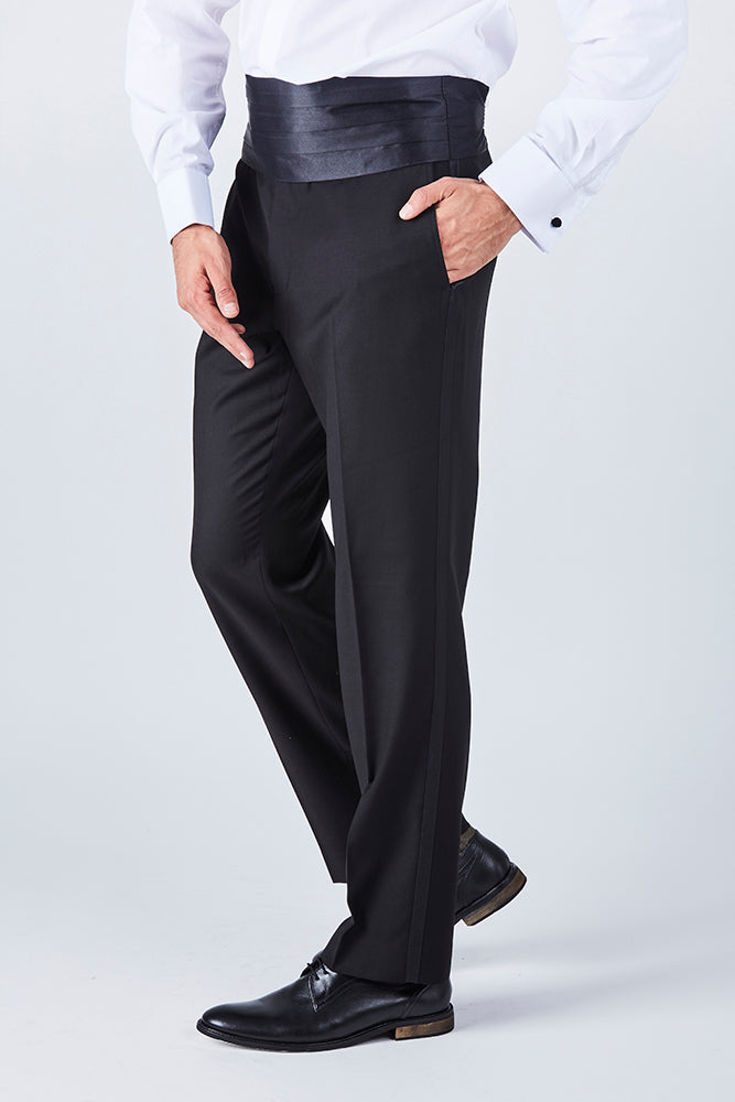 black-satin-cummerbund