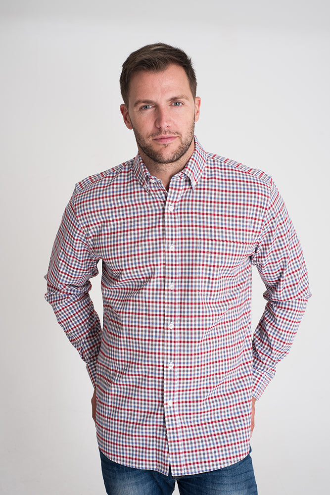 red-checked-long-sleeve-casual-shirt