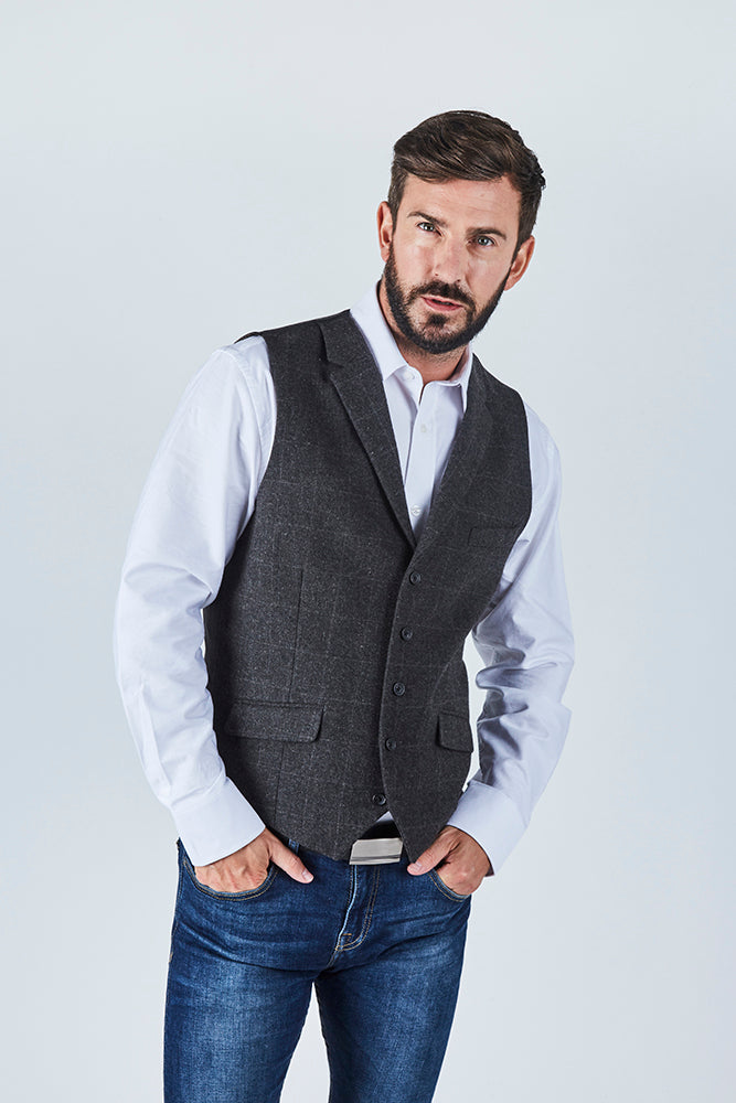 wesley-mens-charcoal-windowpane-check-tweed-waistcoat