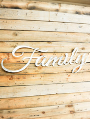 Family White Corrugated