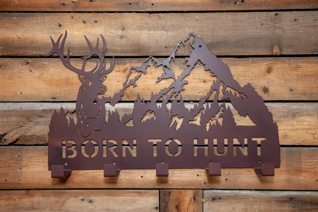 Born To Hunt Coat Rack